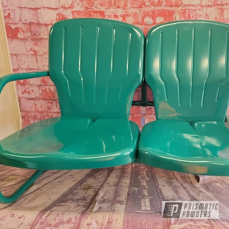 Powder Coating: Patio Glider,Outdoor Furniture,Outdoor Bench,Vintage Patio Furniture,Vintage Glider,Pro Green PSS-1568