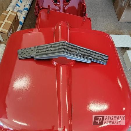 Powder Coating: Tractor Parts,Sheet Metal,RAL 3003 RubyRed,Farmall Tractor,Tractor Hood