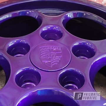 Powder Coated Porsche Rims In Pms-0517 And Pps-1505
