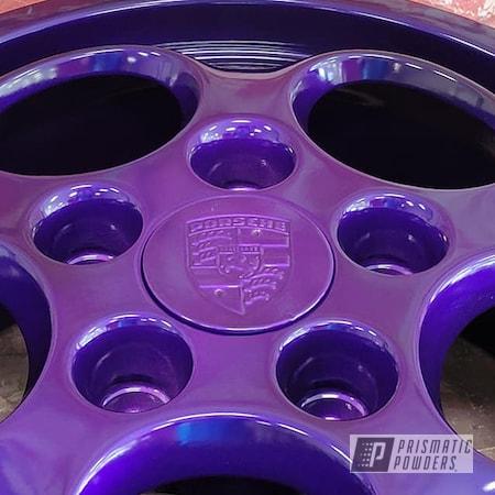 Powder Coating: Wheels,Heavy Silver PMS-0517,Aluminum Wheel,Rims,Porsche Rim,Aluminum Rims,Aluminum,Lollypop Purple PPS-1505