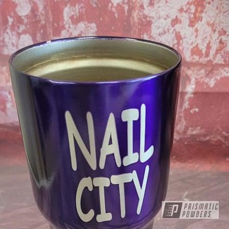 Powder Coating: Tumbler Cup,Stainless Tumbler,Lollypop Purple PPS-1505,Custom Tumbler,Stainless Steel Drinkware