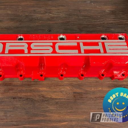 Powder Coating: Automotive,Valve Covers,Porsche,Astatic Red PSS-1738,Valve Cover