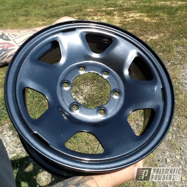 Powder Coating: Wheels,Automotive,Toyota Wheels,Toyota,Dark Grey Sparkle PMB-2750