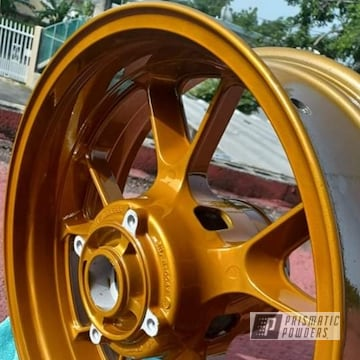 Powder Coated Motorcycle Wheel In Ums-10671 And Pps-6530
