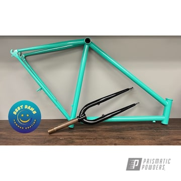 Bicycle Frame Powder Coated In Tropical Breeze