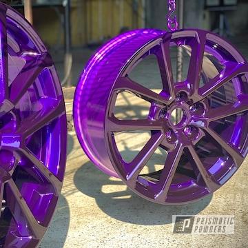 "15"" Aluminum Wheels Powder Coated In Lollypop Purple"