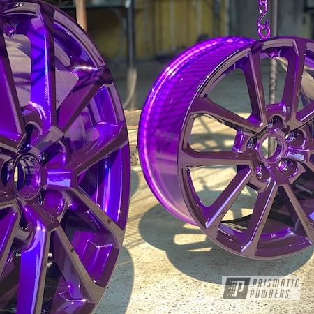 "Powder Coating: Wheels,Automotive,15"" Aluminum Rims,Lollypop Purple PPS-1505"