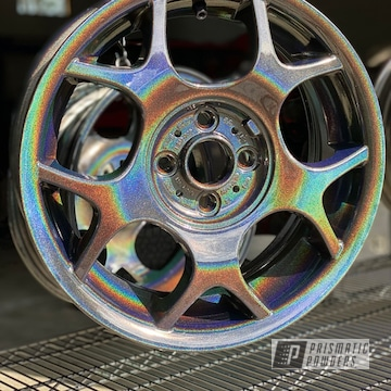 Wheels Powder Coated In Prismatic Universe