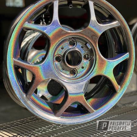 """Powder Coating: Wheels,Automotive,15"""" Aluminum Rims,Prismatic Universe PMB-10367"""