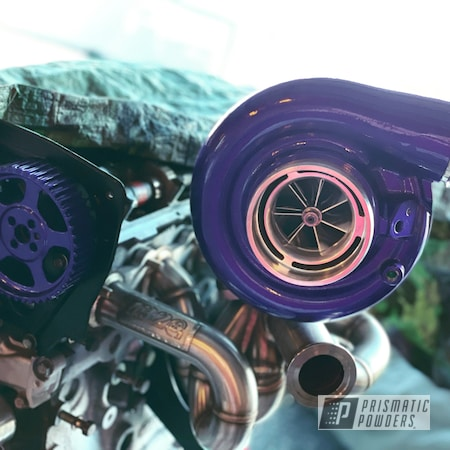 Powder Coating: Illusion Purple PSB-4629,Automotive,Turbo Parts,Clear Vision PPS-2974,2 stage,Turbo,Illusions,Automotive Parts