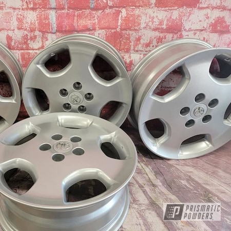 "Powder Coating: Wheels,Heavy Silver PMS-0517,Rims,16"" Aluminum Rims,Aluminum Rims,Automotive Rims,Aluminum Wheels"