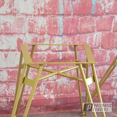 Powder Coating: Goldtastic PMB-6625,Custom Furniture,Chairs,Chair Frames,Interior Decore