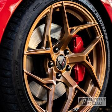 Powder Coated Corvette Wheels In Ppb-4520