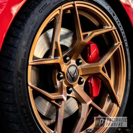 "Powder Coating: Wheels,19"" Wheels,Forged Wheels,Alloy Wheels,Rims,Copper,NES Wheels,MRR wheels,Monaco Copper PPB-4520,Chevy,Corvette"