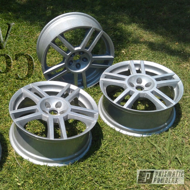 Powder Coating: Wheels,Automotive,Alien Silver PMS-2569