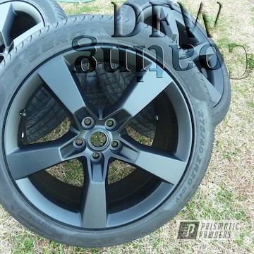 Camaro Wheels Coated In Black Jack