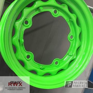 Powder Coated Steel Wheels In Pss-0116
