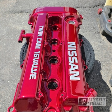 Powder Coated Nissan Valve Cover In Pps-2974 And Pmb-6905