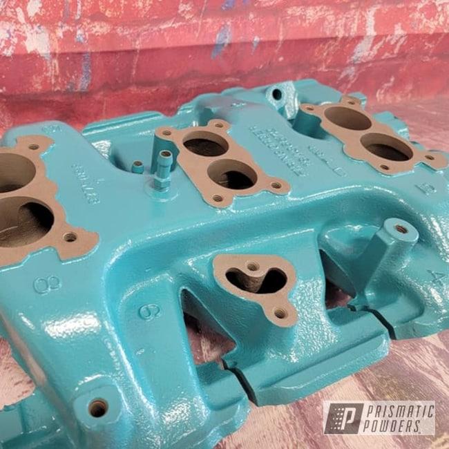Powder Coated Intake Manifold In Ral 5018