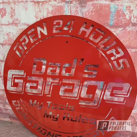 Powder Coating: Metal Art,Signs,Custom Signs,RAL 3002 Carmine Red,Metal Sign
