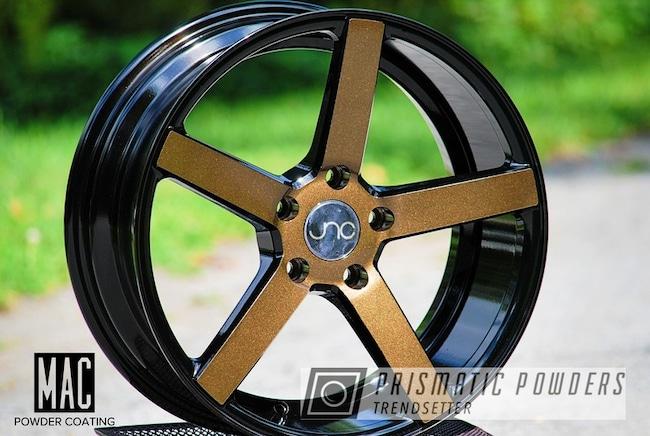 Powder Coating: Wheels,Clear Vision PPS-2974,Rims,Ink Black PSS-0106,Bronze Chrome PMB-4124,JNC,Two Tone Wheels,Two Toned,mac powder coating