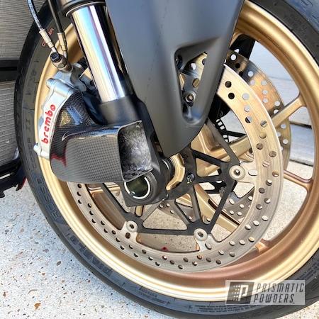 Powder Coating: Wheels,Ducati,Motorcycle Rims,V4,Streetfighter,Motorcycle Wheels,Motorcycle Rim,Panigale,ROMAN GOLD UMB-1638,Gold