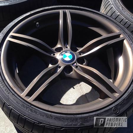 "Powder Coating: Wheels,Rims,DARK BRONZE UMB-0499,BMW,17"" Wheels,5 Spoke"
