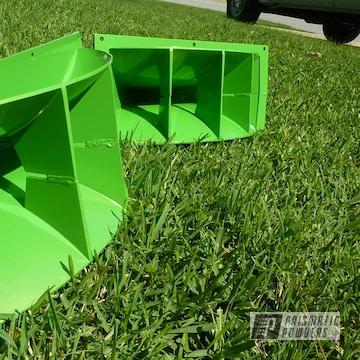 Custom Spear Horns Coated In Lime Juice Green