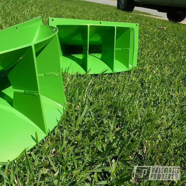 Powder Coating: Speaker,Lime Juice Green PMB-2304,Speaker Horn,Miscellaneous