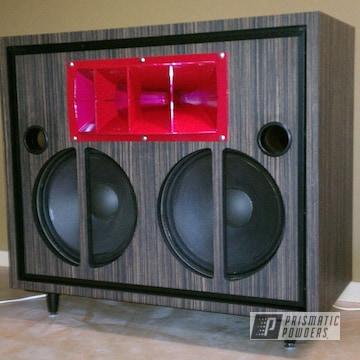 Custom Speaker Horn Coated In Raspberry Red