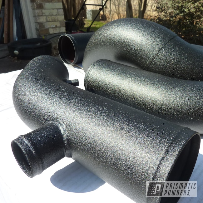 Powder Coating: Automotive,Textured Finish,Intercooler Piping,Desert Nite Black PWS-2859