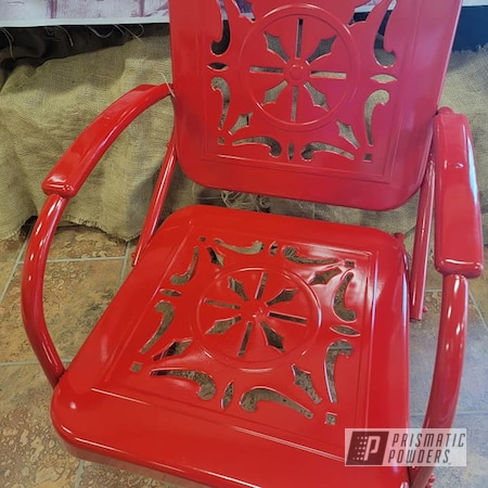 Powder Coating: Vintage Lawn Chairs,Vintage,Outdoor Chairs,Patio Chair,RAL 3002 Carmine Red,Metal Chair,vintage patio chair,Old Fashioned Chairs