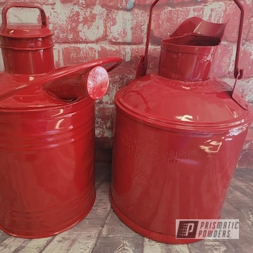 Powder Coated Metal Cans In Ral 3002