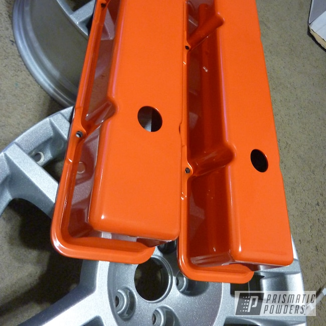 Powder Coating: Automotive,Chevy Orange PSS-0163,Engine Components