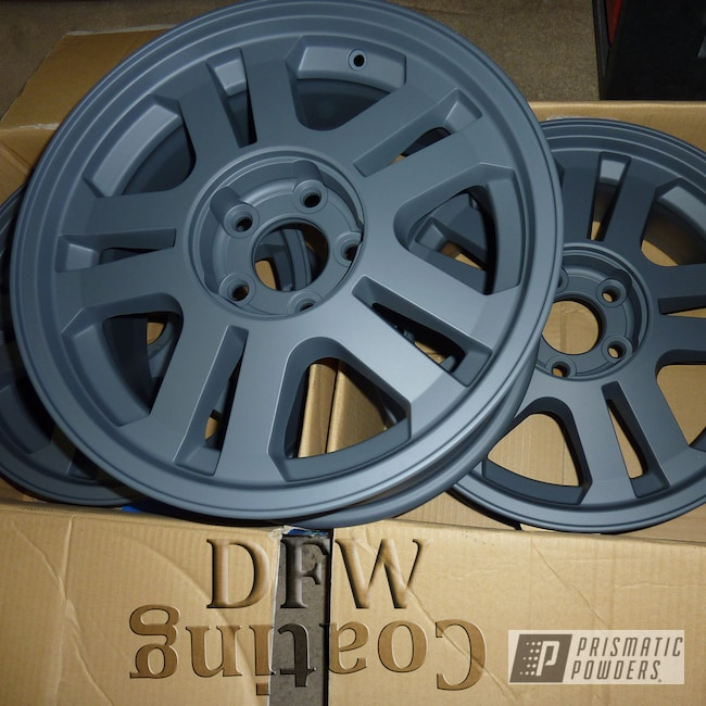 Powder Coating: Wheels,Jungle Grey PSS-5933,Automotive,Casper Clear PPS-4005,Ford Mustang 5,Powder Coated Ford Mustang Wheels