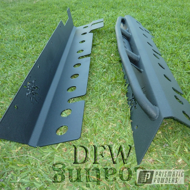 Powder Coating: Automotive,Jeep Rock Sliders,Textured Finish,Desert Nite Black PWS-2859,Textured