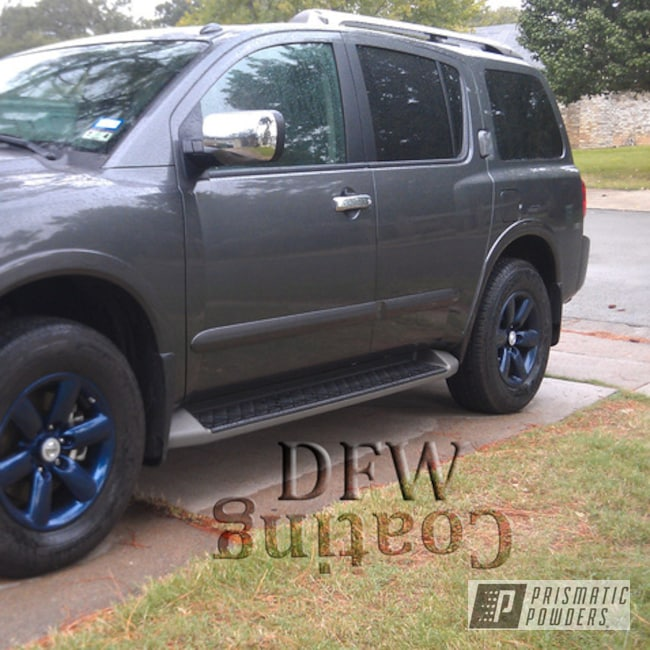 Powder Coating: Wheels,Clear Vision PPS-2974,Nissan,Misty Blue PMB-4246,Nissan Wheels