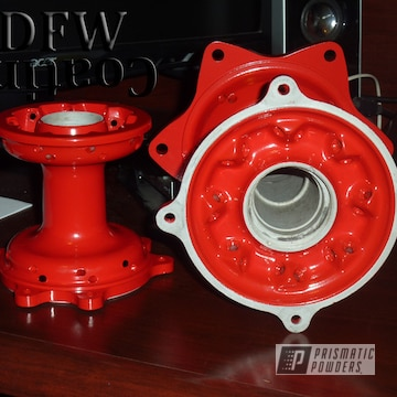 Dirt Bike Hubs Coated In Passion Red