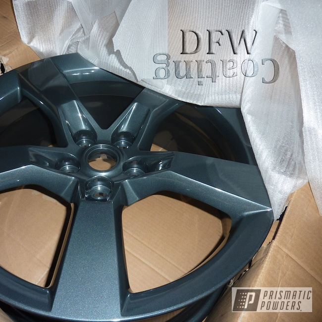 Powder Coating: Wheels,Automotive,Black Metallic PMB-4105,Chevy Camaro Wheels,Camaro Wheels