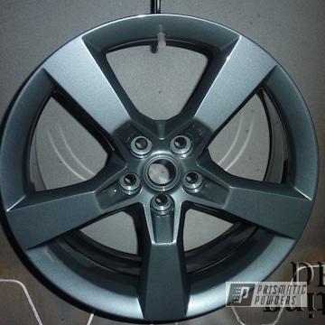 Camaro Wheels Coated In Black Metallic