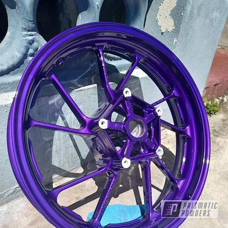 """Powder Coating: Illusion Purple PSB-4629,Clear Vision PPS-2974,Yamaha,17"""" Wheels,2 stage"""