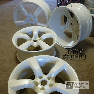 Custom Wheels Coated In Escalade White And Diamond Pearl Clear