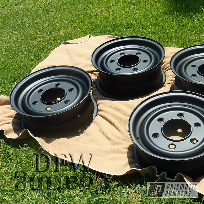 Powder Coating: Wheels,Automotive,BLACK JACK USS-1522,Humvee wheels