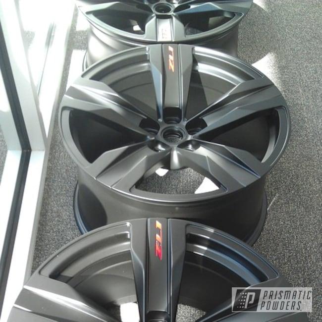 Powder Coating: Wheels,Automotive,BLACK JACK USS-1522,Chevy Camaro Wheels,Camaro ZL1