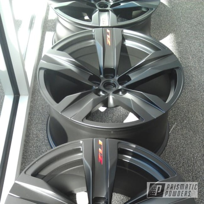 Powder Coating: Wheels,Automotive,BLACK JACK USS-1522,Chevy Camaro Wheels,Camaro ZL1