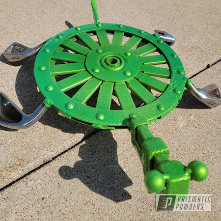 Powder Coating: Iron Art,Illusion Lime Time PMB-6918,Clear Vision PPS-2974,Yard Art,Outdoor Decor,Turtle,Illusions