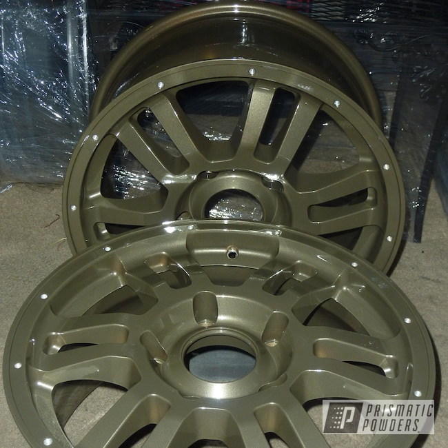 Powder Coating: Wheels,Automotive,Autumn Bronze PMB-1617,Toyota Wheels