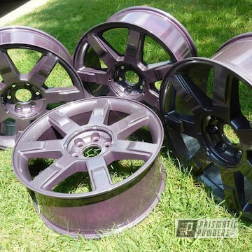 """22"""" Wheels Coated In Fantasy Plum And Diamond Pearl Clear"""