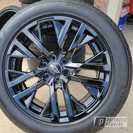 "Powder Coating: Wheels,Silverado,Truck,Automotive,Alloy Wheels,Rims,Ink Black PSS-0106,22"" Aluminum Rims,Chevy,Silverado Wheels"