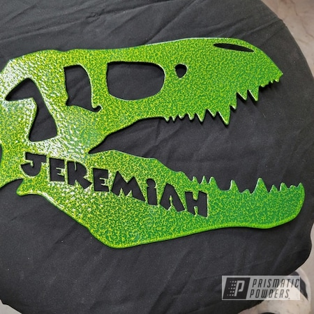 Powder Coating: 2 stage,Custom Sign,Shocker Yellow PPS-4765,Silver Artery PVS-3014